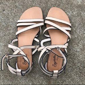 Adorable White Seychelles sandals